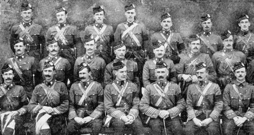 Officers of the 1st Battalion Gordon Highlanders