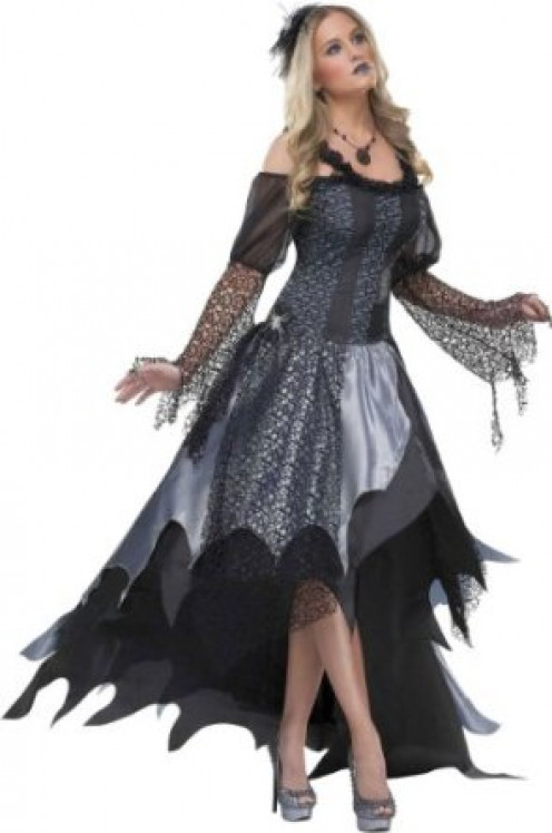 Dark Spider Queen Adult Black Costume