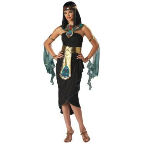 Women's Egyptian Queen Cleopatra Dark Black Halloween Costume