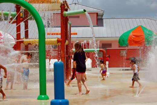 My daughter cooling off in the splash park-photo by AMB