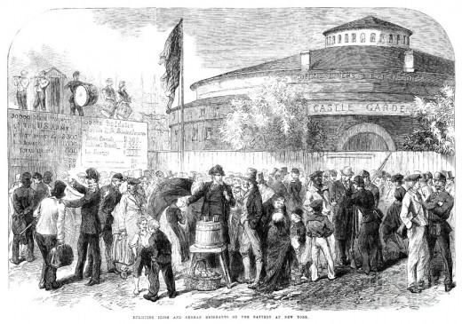 Union Army recruiting office within a New York fortress, 1861