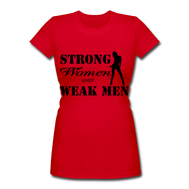 This statement is so true. A real man loves a strong woman.