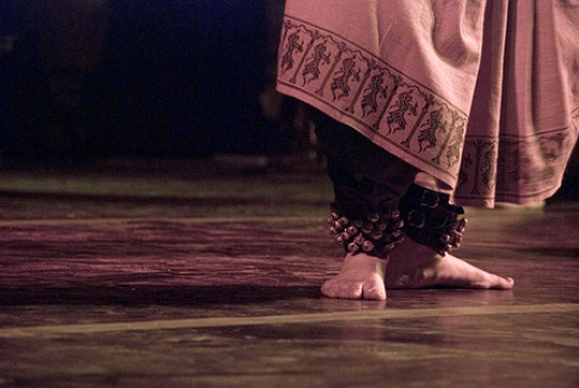 The effects of vibrations caused by bare-footed dancing in the Indian Bharata Natyam dance, (here shown with leg bells) have a positive outcome on plant growth.