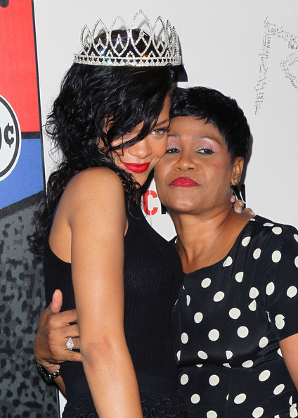 Rihanna with her mother Monica Braithwaite