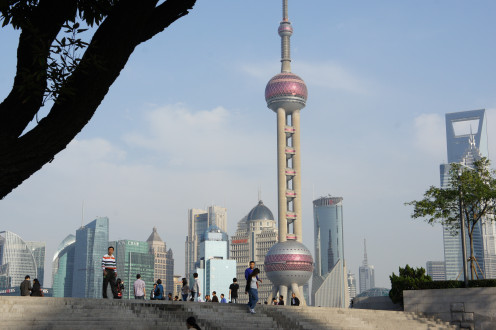 Pudong, viewed from the Bund, Shanghai.