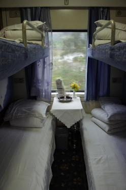 Our Soft Sleeper compartment for the trip from Shanghai to Guilin