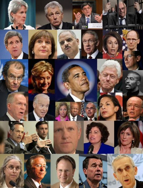 Here they are - Baracketeer Obama, his (known) bosses and hit men.