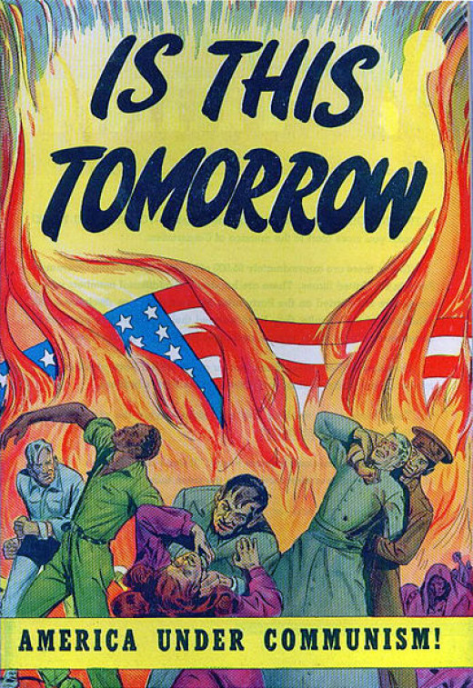 "Cover to the propaganda comic book ""Is This Tomorrow""' in 1947."