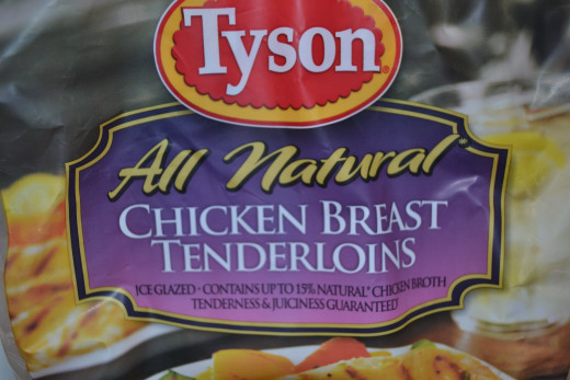 I like to use Tyson tenders.