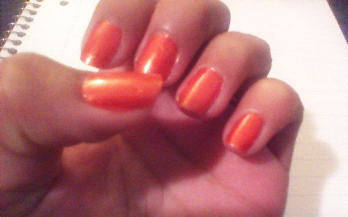 Bright Orange Color...only need one coat!