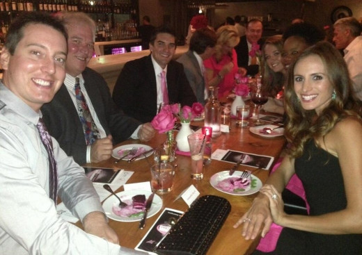 Kyle and Samantha hosted a fundraising dinner for breast cancer victims this past week