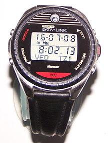 Timex Datalink 150, one of the first mass market smartwatch, circa 1999
