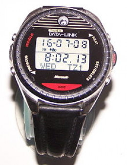 Timex Datalink 150, one of the first mass market smartwatch, circa 1999