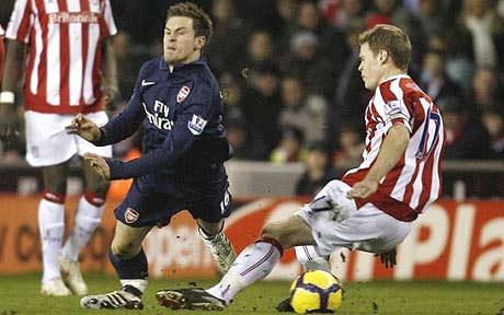 The bone-crunching tackle that almost ended Ramsey's career.