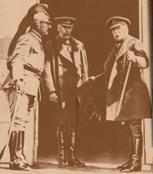 From left to right, Colonel Rampon, Colonel Fitzgerald and Field-Marshal French.