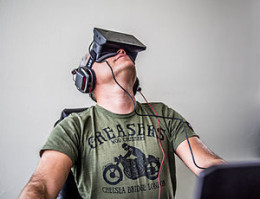 Oculus Rift Developer Edition, as worn by Sergey Orlovskiy, circa 2013