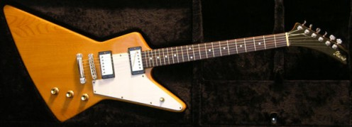 A '75 Ibanez Korina Destroyer. Korina is a tonewood loved not only for its appearance, but also its sound.