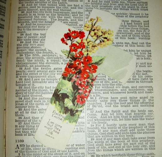 Make a bookmark from old Easter cards.