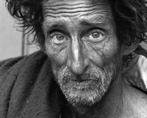 Many homeless people are war veterans.