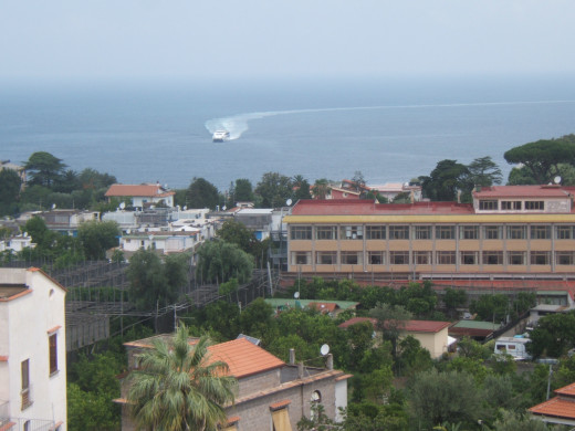 View from the La Culla Religious House, Sorrento