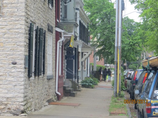A view down Pearl Street in the Stockade District of Kingston.
