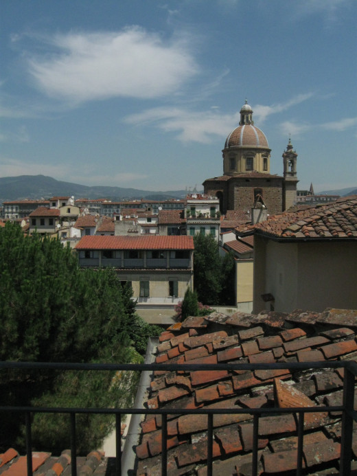 Roof top view from the Casa Santo Nome Di Gesu