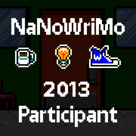 One of many NaNo logos you can put on your Facebook, blog, or website to show your participation.