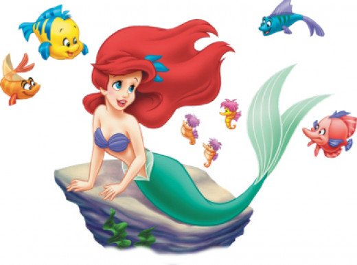 The sweet and innocent little mermaid as portrayed by Disney
