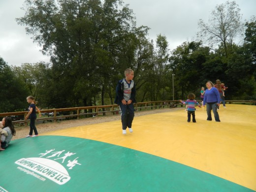 Jumping on the Corn Jump