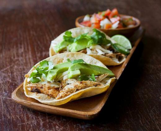 Avocado Chicken Tacos