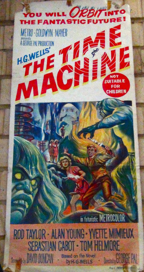 A proud possession, an original 1960 day bill poster of The Time Machine. ALL IMAGES USED FOR REVIEW PURPOSES.