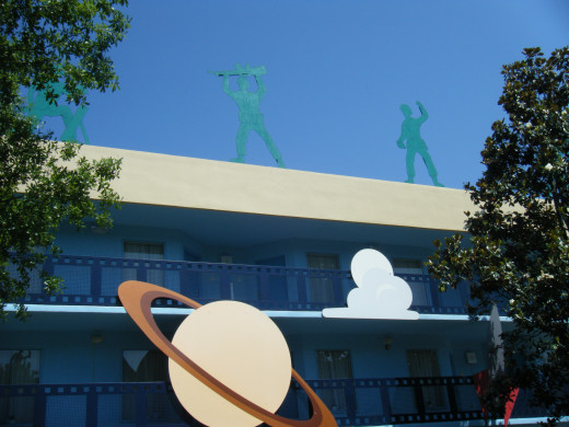 Green Army Men stand guard over the Toy Story themed rooms at All-Star Movies
