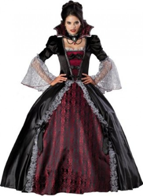 Vampiress Of Versailles Adult Full Length Ball Gown Costume