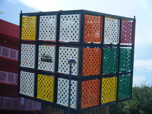 Rubix Cubes are used as headliners for hotel blocks