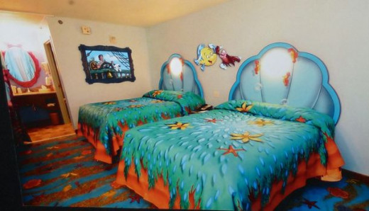 The Little Mermaid themed rooms