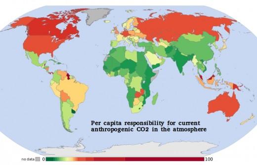 Highest per capita contributors to man made carbon dioxide