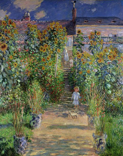 Claude Monet's painting of a vertical garden