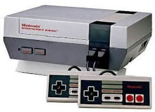 The NES came packaged with Super Mario Brothers and Duck Hunt. It also had two controllers and a light gun.