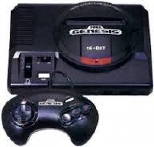 The Sega Genesis was a 16 bit console that originally came packed with two controllers and the game Altered Beast.