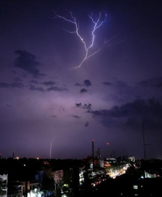 Most people hae seen cloud to cloud lightning often referred to as heat lightning. For many reasons, there is often no thunder associated with it.