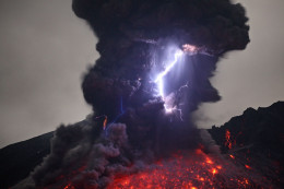 Ground to ground lightning is usually associated with volcanic activity, but there are other instances where it can occur.