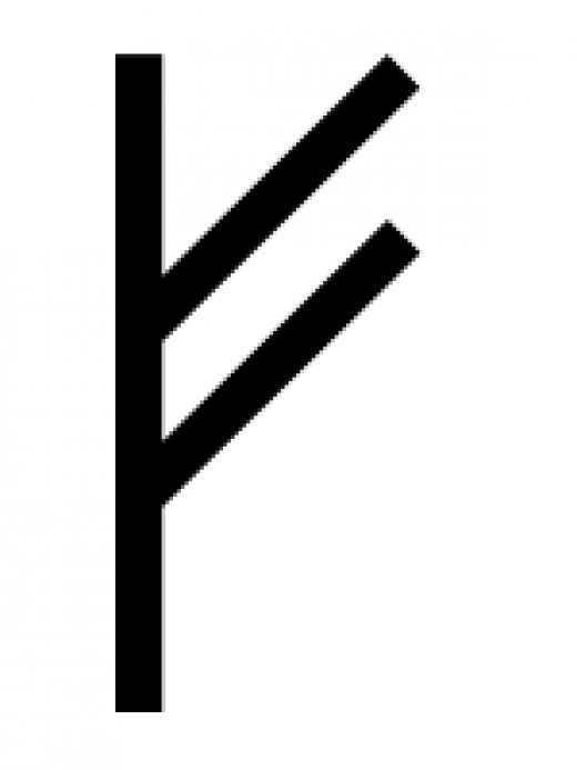 FEHU is of the Germanic Futhark runic system, and it literally means 'cattle'-- it is associated with wealth and money, because our Pagan ancestors associated wealth with livestock.