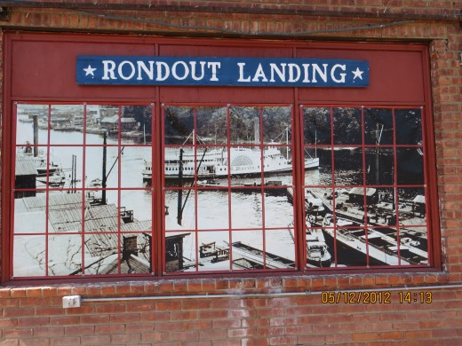 A wonderful painting of the Rondout Landing.