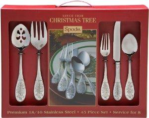 Spode Christmas Tree 45-Piece Flatware Set