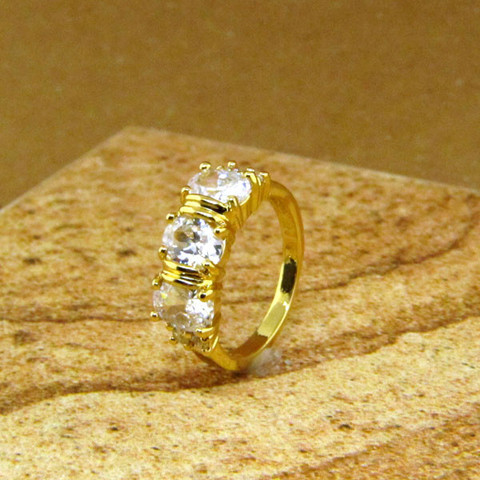 Three Stone Gold Ring
