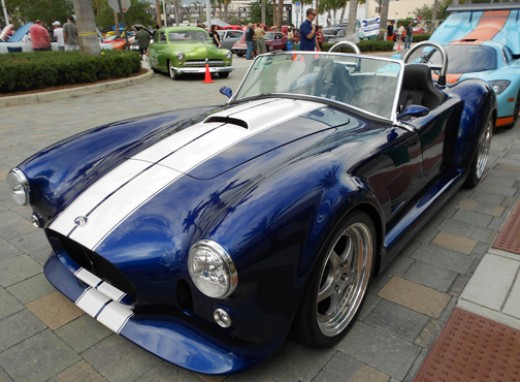 Just for fun, here's a Ford Cobra we saw at Car Show in West Palm Beach.