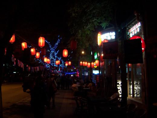 Sanlitun North Bar Street at night