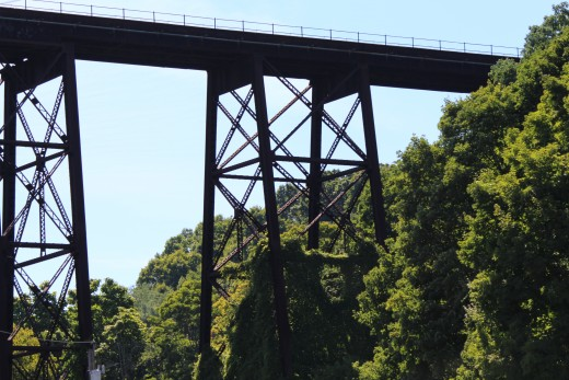 The end of the above railroad bridge.