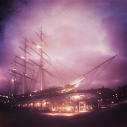 St. Elmos's fire also occurs frequently, particularly if there is a substantial charge in the atmosphere encountered by a ship or airship such as a dirigible. St. Elmo's fire is terrifying to many people who encounter it.