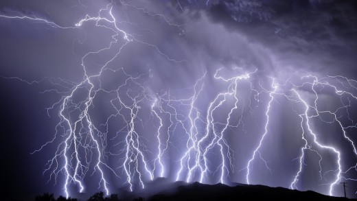 Cloud to earth lightning is what most people are familiar with as far as such phenomenon are concerned, yet it is not the most common.